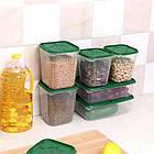 Набор пищевых контейнеров Supretto 17 шт, Зеленый, фото 2
