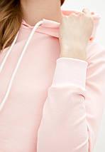Кроп топ жіночий спортивний з капюшоном лавандовий, фото 3