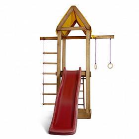 Дитячий спортивний дерев'яний майданчик Babyland-17, розмір 2,4х1,8 х 1,9 м