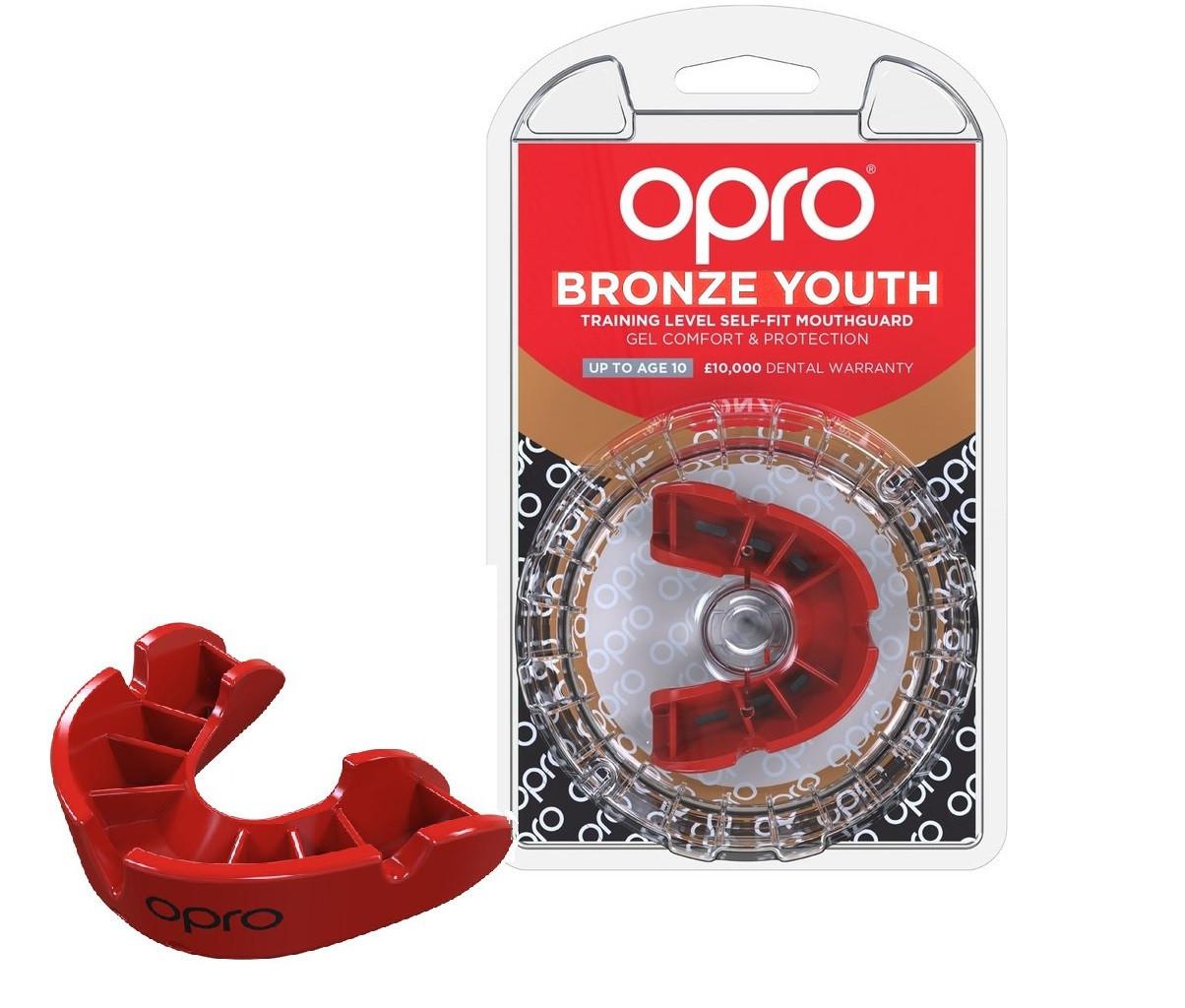 Капа OPRO Bronze Junior, Red