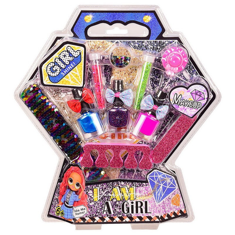 Маникюр для девочки, косметика детская, маникюрный набор, лак, блеск