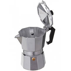 Гейзерная кофеварка A-PLUS на 3 чашки, Серый