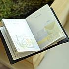 Шкіряна обкладинка Cebro на паспорт з гербом, Коричневий, фото 4