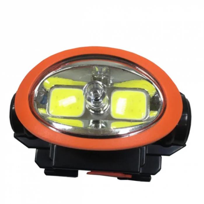 Налобний ліхтарик з лазером BL-0520 COB, Чорний