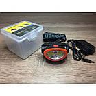 Налобний ліхтарик з лазером BL-0520 COB, Чорний, фото 2