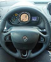 Чехол - оплетка из натуральной кожи на руль Renault Megane 3 /Scenic / Fluence
