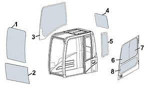 Слайдер двері верхнє, заднє, слайдер 20Y-54-52840 для гусеничного екскаватора Komatsu PC