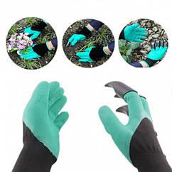 Садові рукавички з кігтями Garden Genie Gloves