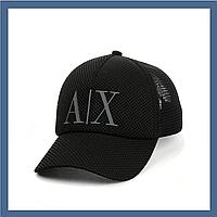 Кепка- бейсболка с сеткой и резиновым патчем Armani Exchange Черный