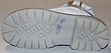 Ботинки белые кожаные для девочки на байке от производителя модель ДЖ6058-2Д, фото 5