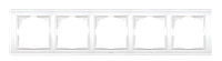 Рамка пятерная белый, крем El-Bi Zena