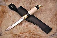 Финский нож ручной работы с рогом лося, N690