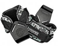 Крюки для тяги на запястья Power System Hooks Camo PS-3370 XL, Black/Grey
