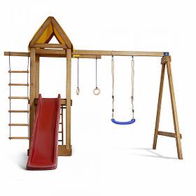 Дитячий спортивний дерев'яний майданчик Babyland-18, розмір 2,4х1,8 х 3.1м