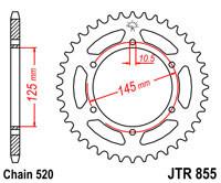 Звезда задняя стальная  JT JTR855.46 JT Sprockets