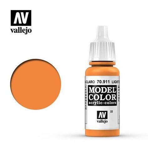Светло-оранжевый. Краска водорастворимая акриловая 17 мл. VALLEJO MODEL COLOR 70911, фото 2