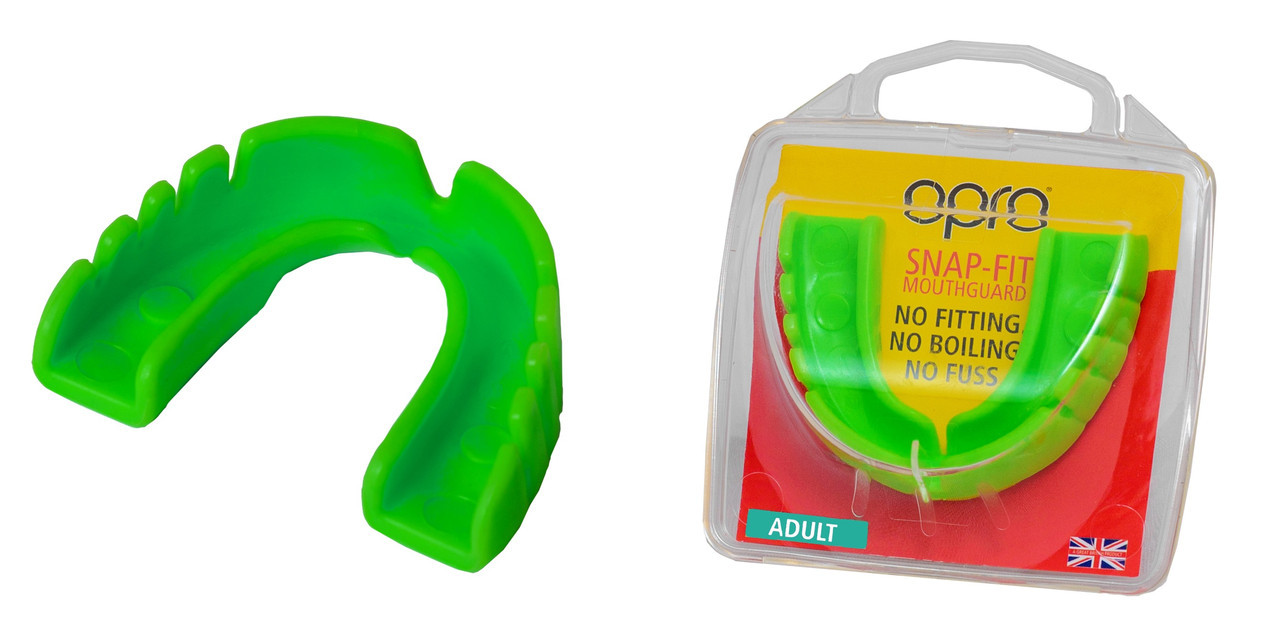 Капа OPRO Snap-Fit, Neon Green