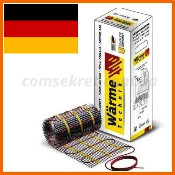 Тепла підлога електрична 3.5 м2 Warme (Німеччина) нагрівальний мат під плитку.