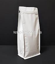 Пакет с плоским дном 1кг белый 145х90х340 с боковой застежкой