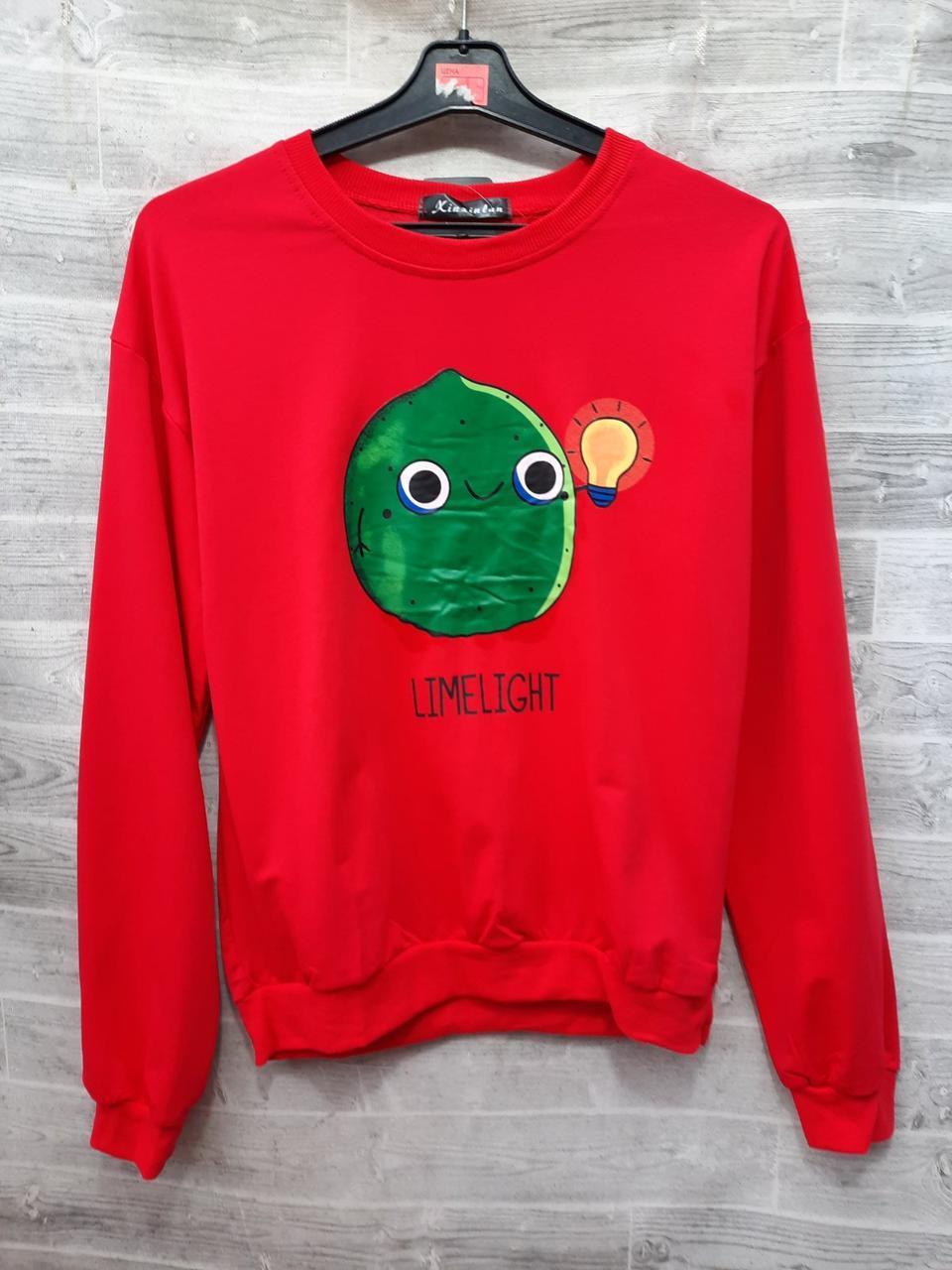 Модный пуловер с ярким рисунком 44-46 (в расцветках)