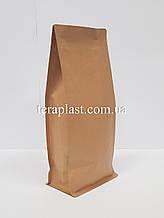 Пакет с плоским дном 1кг крафт+металл 145х90х340 БЕЗ зип-замка