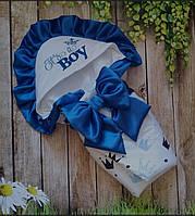 """Демисезнный конверт на выписку """"Boy"""" , 78*78 летний конверт для мальчика"""