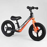 """Велобег оранжевый Corso 25825 колесо 12"""" надувные, магниевая рама, магниевые диски, подножка"""