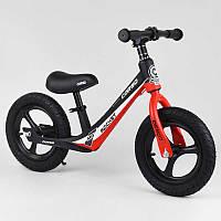 """Велобег красный Corso 67689 колесо 12"""" надувные, магниевая рама, магниевые диски, подножка"""