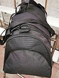 Сумка дорожная спортивная черная 40 л, фото 3
