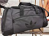 Сумка дорожная спортивная черная 40 л, фото 5
