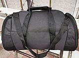 Сумка дорожная спортивная черная 40 л, фото 4