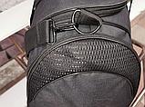 Сумка дорожная спортивная черная 40 л, фото 7