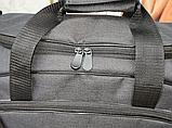 Сумка дорожная спортивная черная 40 л, фото 8