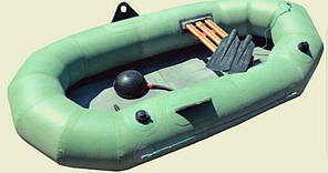 Лодка резиновая 1 местная  (лисичанка) 28 борт