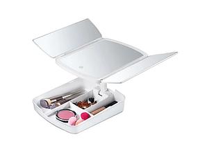 Дзеркало для макіяжу My Foldaway Освітленої Makeup Mirror ! Новинка дзеркало-органайзер дзеркало з підсвічуванням, фото 3