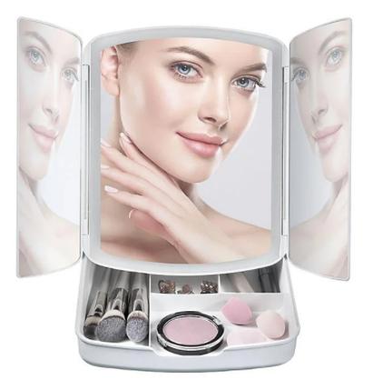 Дзеркало для макіяжу My Foldaway Освітленої Makeup Mirror ! Новинка дзеркало-органайзер дзеркало з підсвічуванням, фото 2