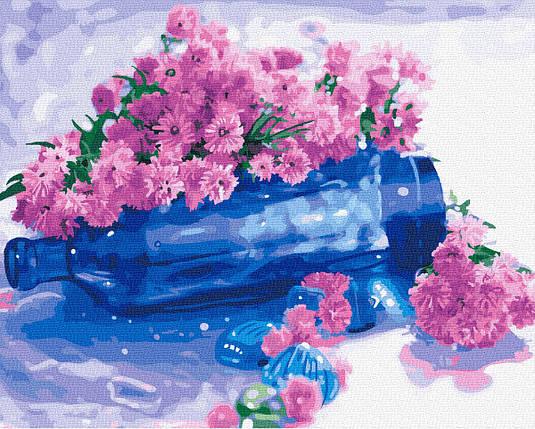 Картина по Номерам Цветы на бутылке 40х50см RainbowArt, фото 2