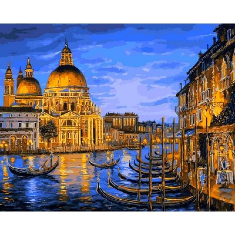 Картина рисование по номерам Mariposa Q2172 Собор Санта-Мария делла Салюте Венеция 40х50см набор для росписи