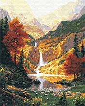 Картина за Номерами Гірський водоспад 40х50см RainbowArt