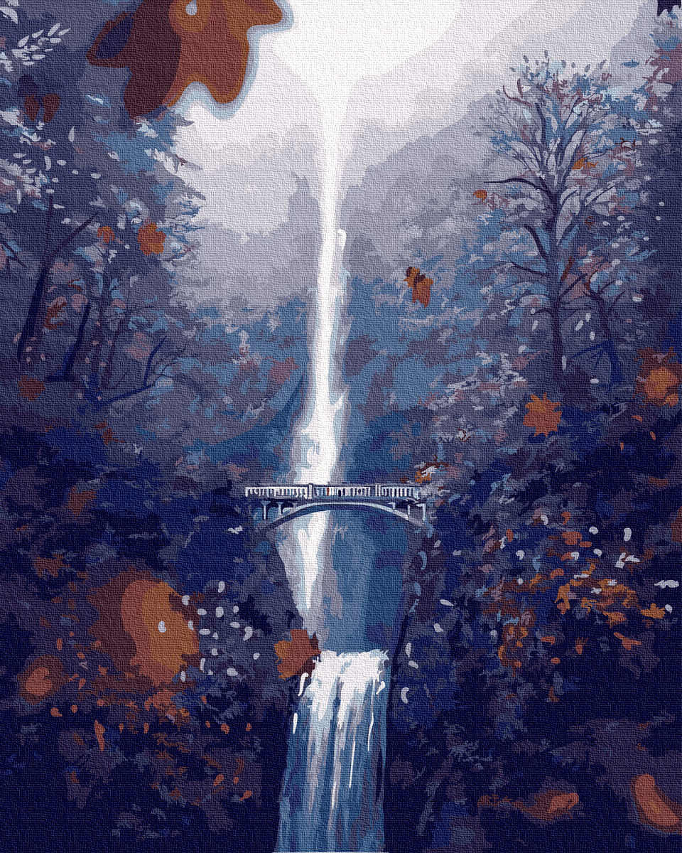 Картина по Номерам Водопад 40х50см RainbowArt