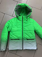 Курточка для девочек «Лика» зелёная