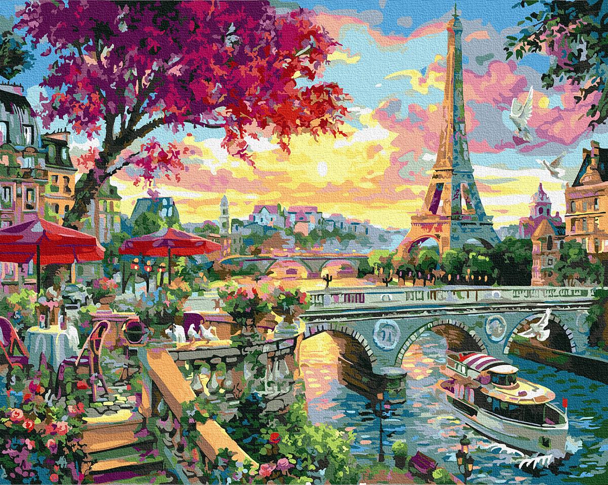 Картина по Номерам Яркий Париж 40х50см RainbowArt