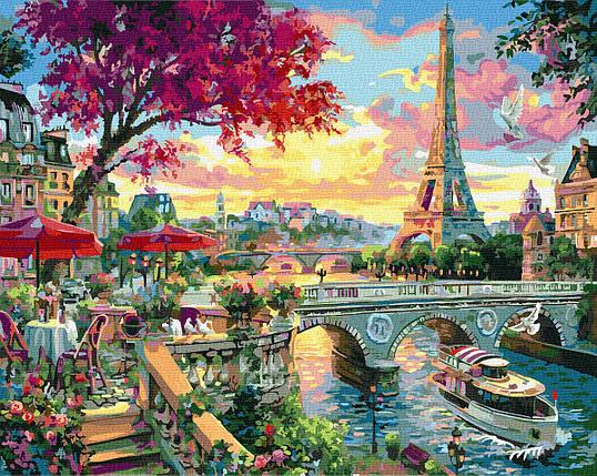 Картина по Номерам Яркий Париж 40х50см RainbowArt, фото 2