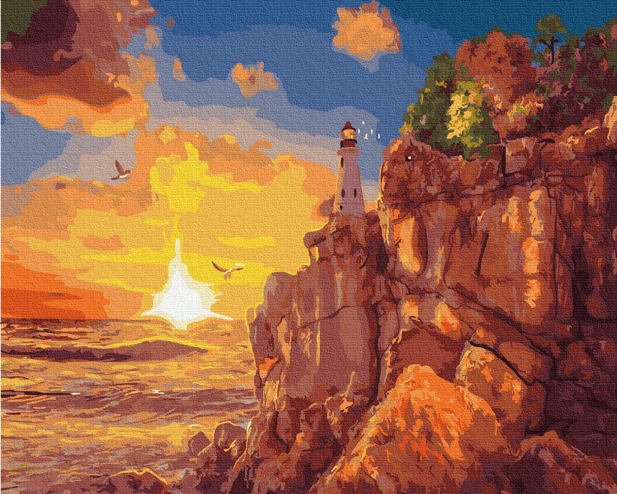 Картина по Номерам Восход солнца 40х50см RainbowArt