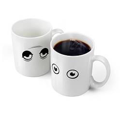 """Эксклюзивная чашка """"Глазки Wake Up-Cup"""" - оригинальный подарок"""