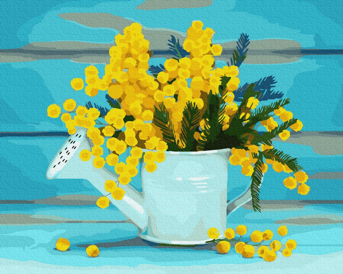 Картина за Номерами Лійка з квітами 40х50см RainbowArt