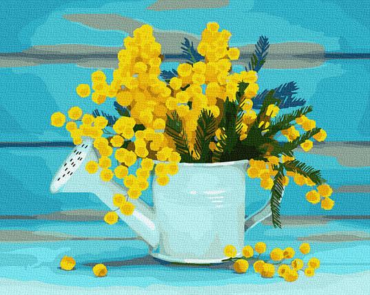 Картина за Номерами Лійка з квітами 40х50см RainbowArt, фото 2