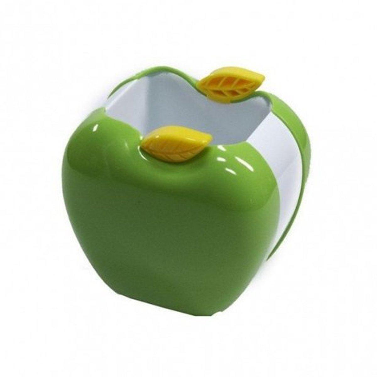 """Стакан пластиковый для ручек """"Яблоко"""" зелёное FS-6008"""