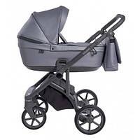 Детская глубокая универсальная коляска 2 в 1 Roan Bloom Grey Pear для детей 0-3 лет, серый