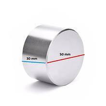 Неодимовый постоянный магнит 50х30 (50 30) имеет силу 100 кг Польша